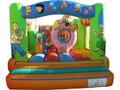Bouncy castle Simpsons image
